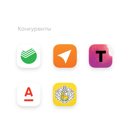 Other banking apps icons